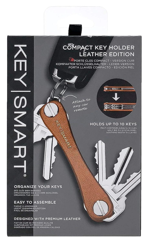 KeySmart - Llavero compacto de piel con organizador de ...