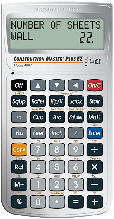 calculated industries 4067 construction master plus ez construction