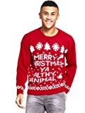 New Unisex Women's Men's Merry Christmas Ya Filthy Animal Xmas Knitted Jumper