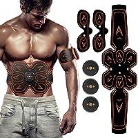 SHENGMI ABS estimulador de Abdominales, Hoja de Gel de Repuesto, cinturón de tonificación Abdominal y tonificador Muscular, Accesorios de Entrenamiento, 30 láminas de Gel para Almohadilla de Gel