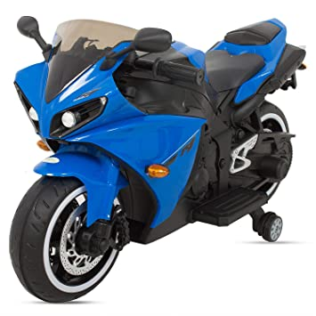 Blue and White Kids Motor cycle Motorcycle bike Cycle Lil Patrol 6V