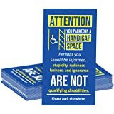 Handicap Parking Cards, Pack of 50, Color, You Suck at Parking
