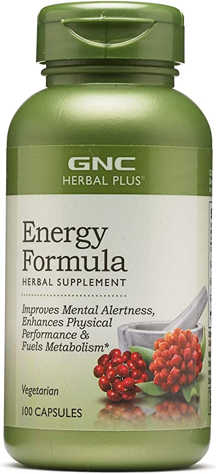 Amazon Com Gnc Herbal Plus Energy Formula 100 Capsules Health