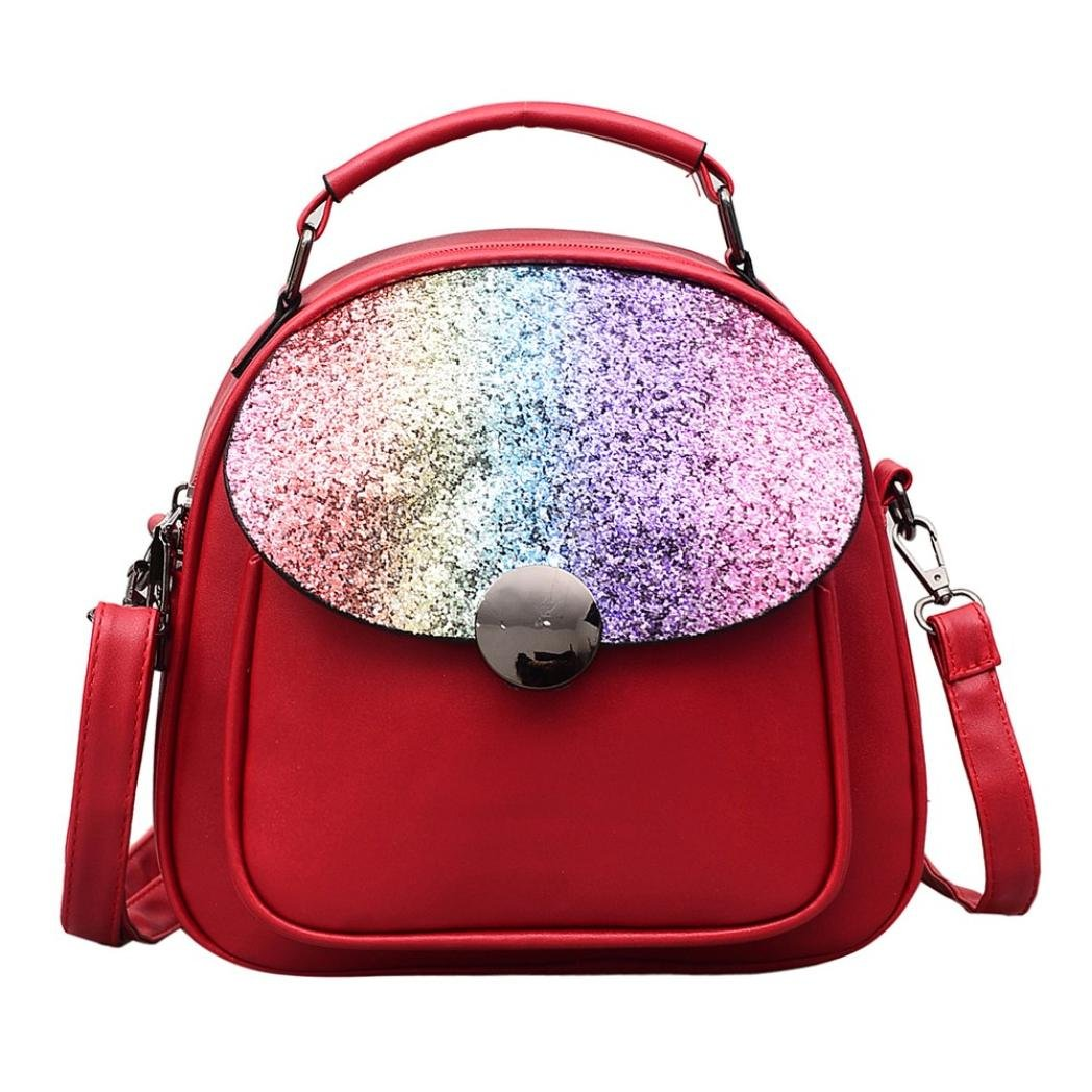 Aobiny Backpack Light Shoulder Oblique Shoulder Travel Bbag (Red)