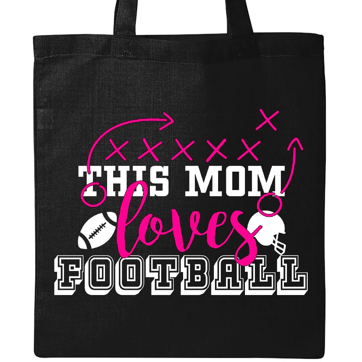 Inktastic - This Mom Loves Football Tote Bag Black