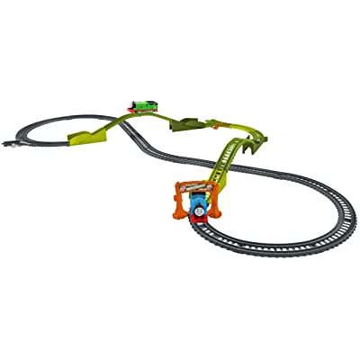 Fisher-Price Thomas & Friends TrackMaster, Motorized Railway Switchback Swamp Playset: Toys & Games