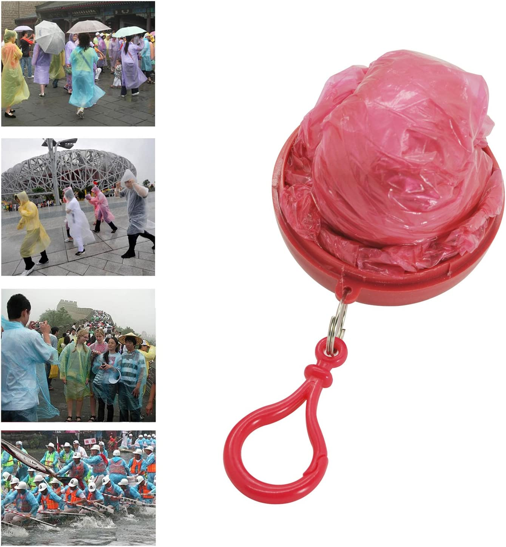 Grenhaven Poncho de Emergencia en una Pelota peque/ño Poncho Ideal para Festivals en Muchos Colores con mosquet/ón