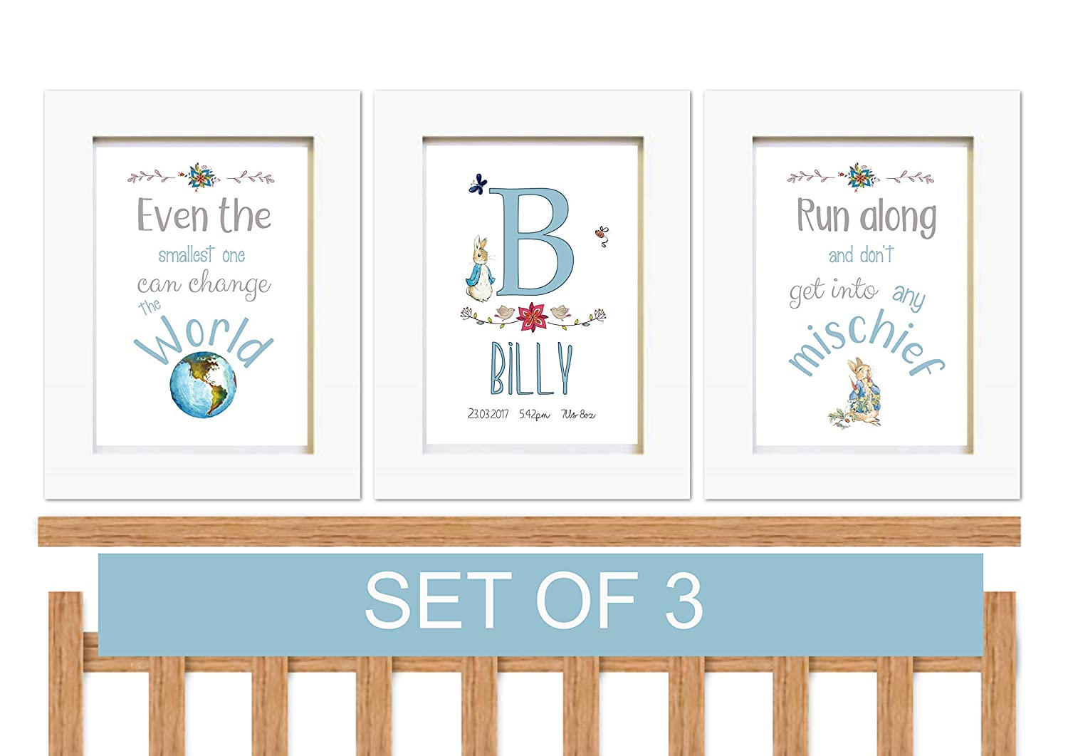 Personalised PETER RABBIT Gift Ideas For NEW BORN Baby Boy GIRLS CHRISTENING