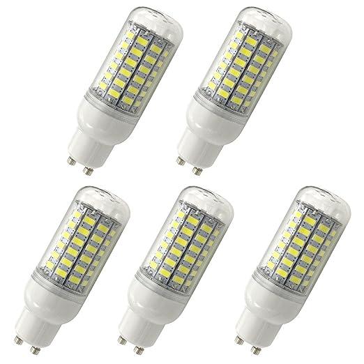 Aoxdi 5X Bombilla GU10 LED de maiz Lampara 10W, Blanco Frío, Dimensiones (OXL