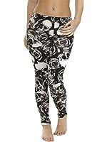 Love My Fashions Women's Skull And Rose Print Leggings