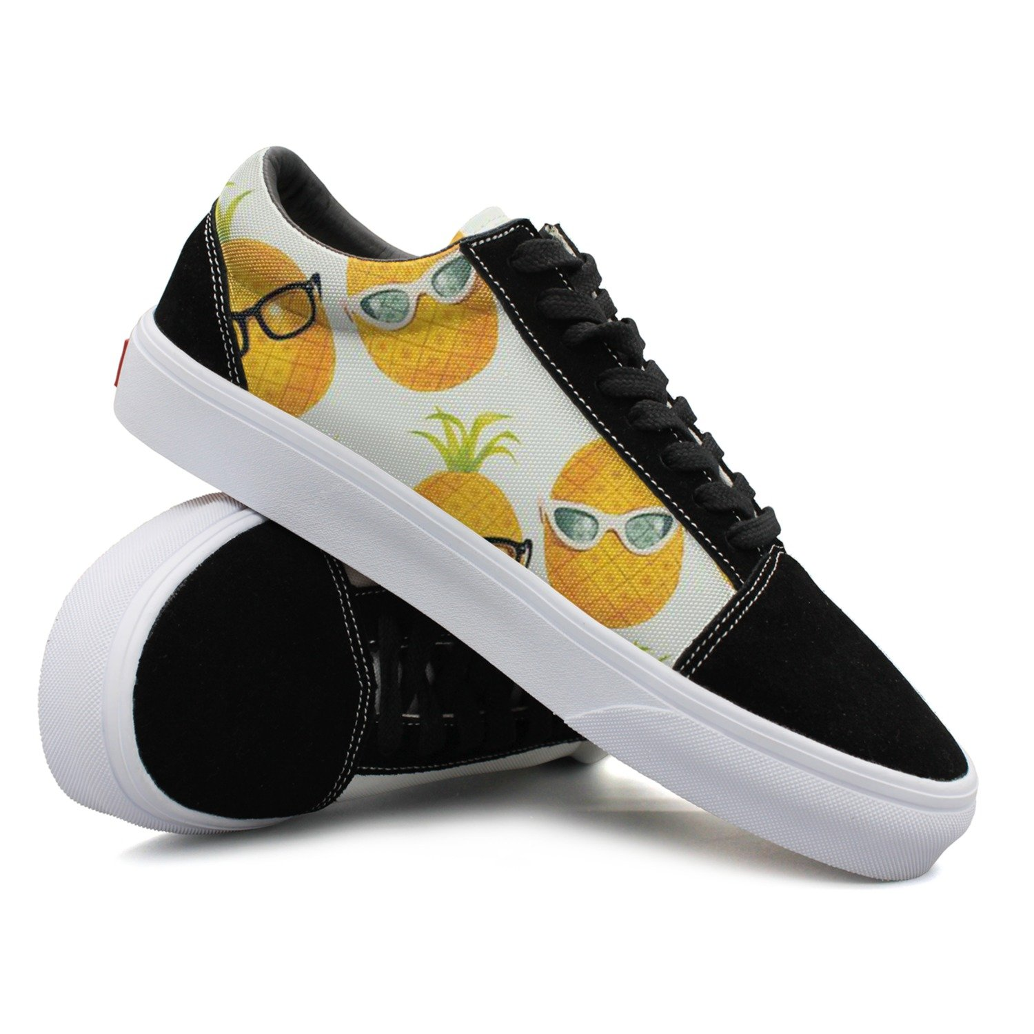 Pineapple With Glasses Cool Women Casual Shoes Footwear Sports Spring Trainers
