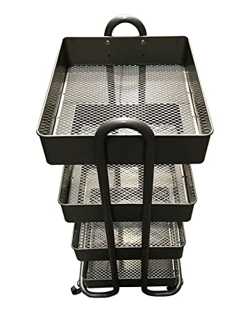 rolling carts for office. 4-Tier Rolling Cart Metal Bins Carts For Office (
