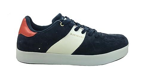 Scarpe Uomo Man Navigare Casual Sneakers in Vera Pelle Scamosciata 8320 (41  EU dc1a8fb10bd