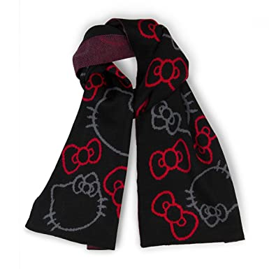 6415b5d52 Image Unavailable. Image not available for. Colour: Loungefly Hello Kitty  Red & Black Scarf