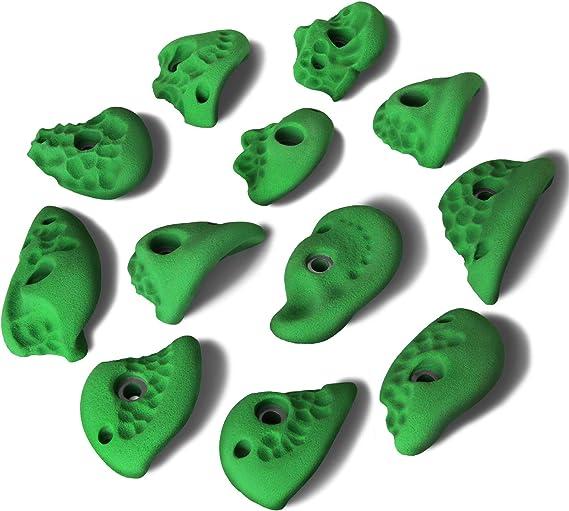 ALPIDEX Presas de Escalada de 12 L un Juego de presas cazo de Distintas Formas de Muchos Colores