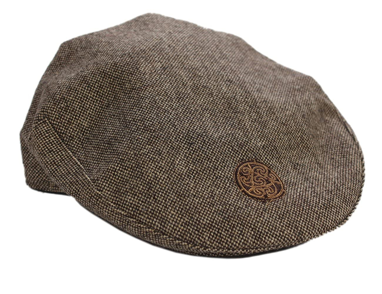 Patrick Francis Ireland Kids Tweed Flat Cap, Brown In Colour