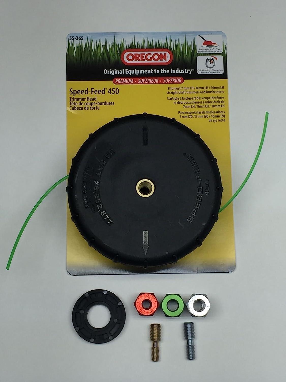 Amazon.com: Oregon 55 – 265 speed-feed 450 cabezal de corte ...
