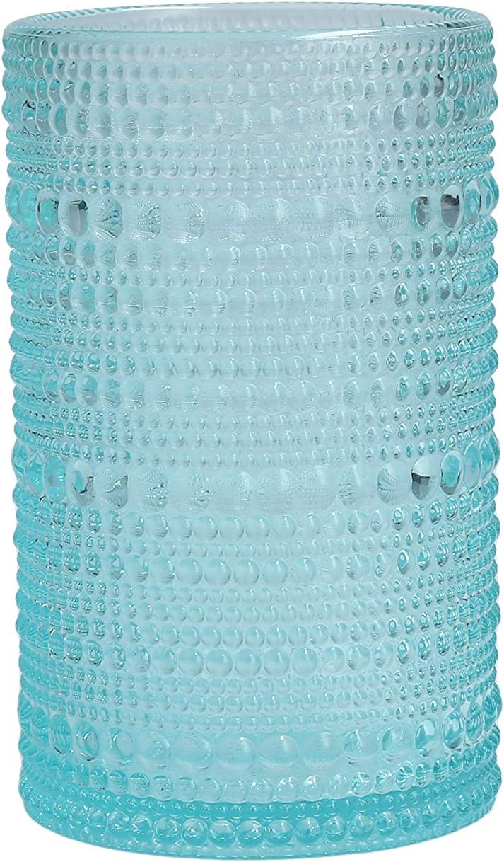 Fortessa Jupiter Collection Iced Beverage Cocktail Glass, Set of 6, 13 Ounce, Pool Blue