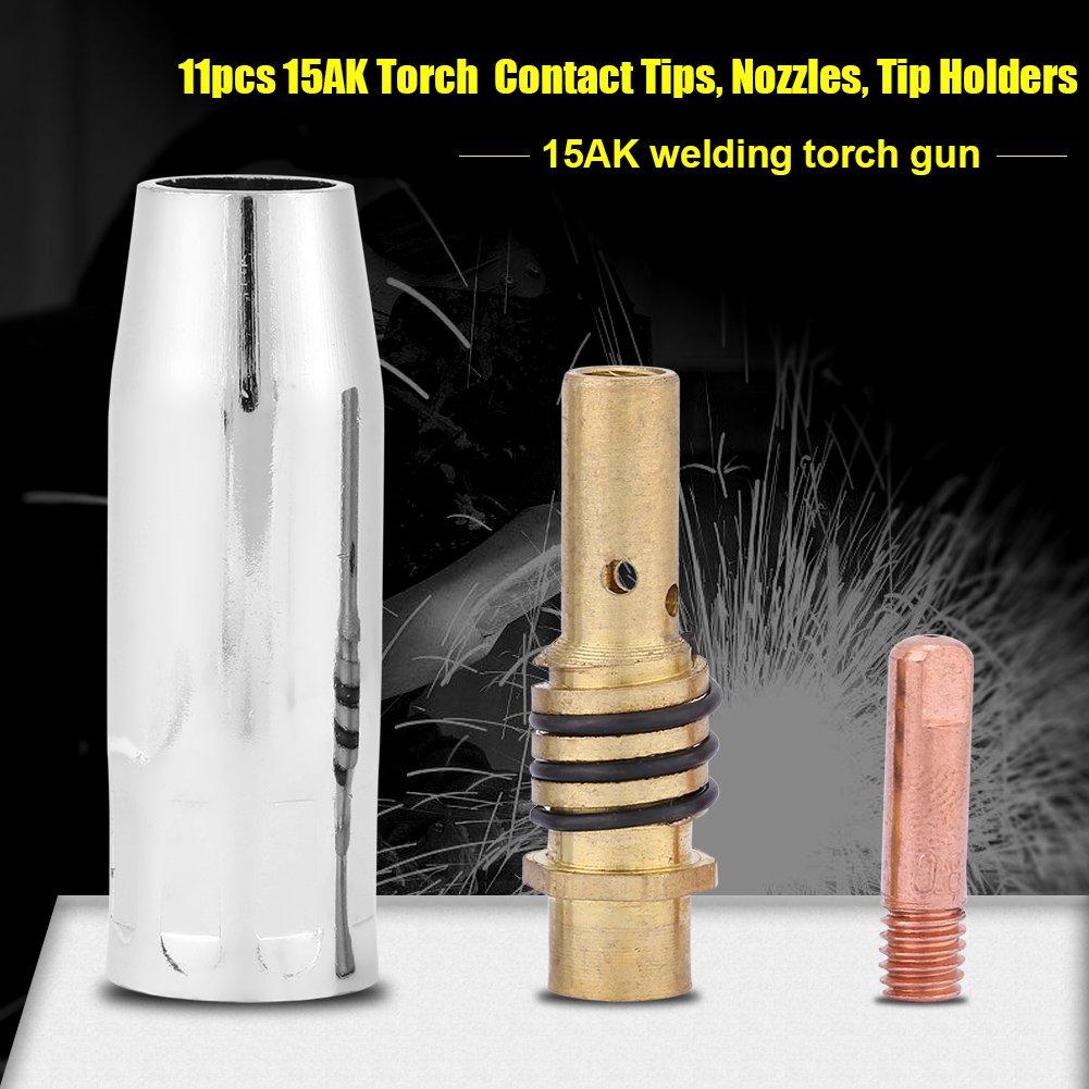 Nozzle Tip 11 pcs Nozzles Contact Tips Holders MIG Welder Consumable Accessory