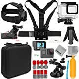 Gurmoir 11-in-1 Essential Must Have Action Camera Accessories Kit for Gopro Hero 7 Black/Hero 6/Hero 5/HERO (2018) Action Cameras Only (AT02)