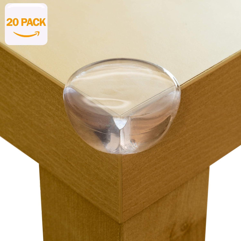 Aycorn Lot de 20 dispositifs de protection de coin,transparent, doux et de qualité supérieure pour enfantsS'installe en quelques secondes avec une colle extra forte
