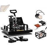 SmarketBuy Heat Press 15x15 Inch Digital Sublimation T-Shirt Heat Press Machine for Hat Mug Plate (5 in 1)