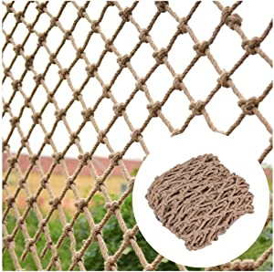 AIAI? Balcony Anti-Fall net Trellis Netting for Climbing Plants,Hemp Rope Net Bar Decor and Accessories for Walls/Patio,Natural Jute Material,14mm/15cm,Multiple Sizes