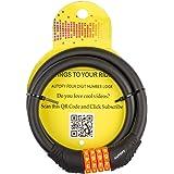 Autofy Heavy Duty 4 Digit Number Lock Helmet Lock Multipurpose Lock Bike Lock Combination Lock (Black & Orange)
