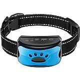 Rechargeable Dog Bark Collar, Humane No Shock Barking Collar with Beep w/2 Vibration & 7 Adjustable Sensitivity, Automatic Tr