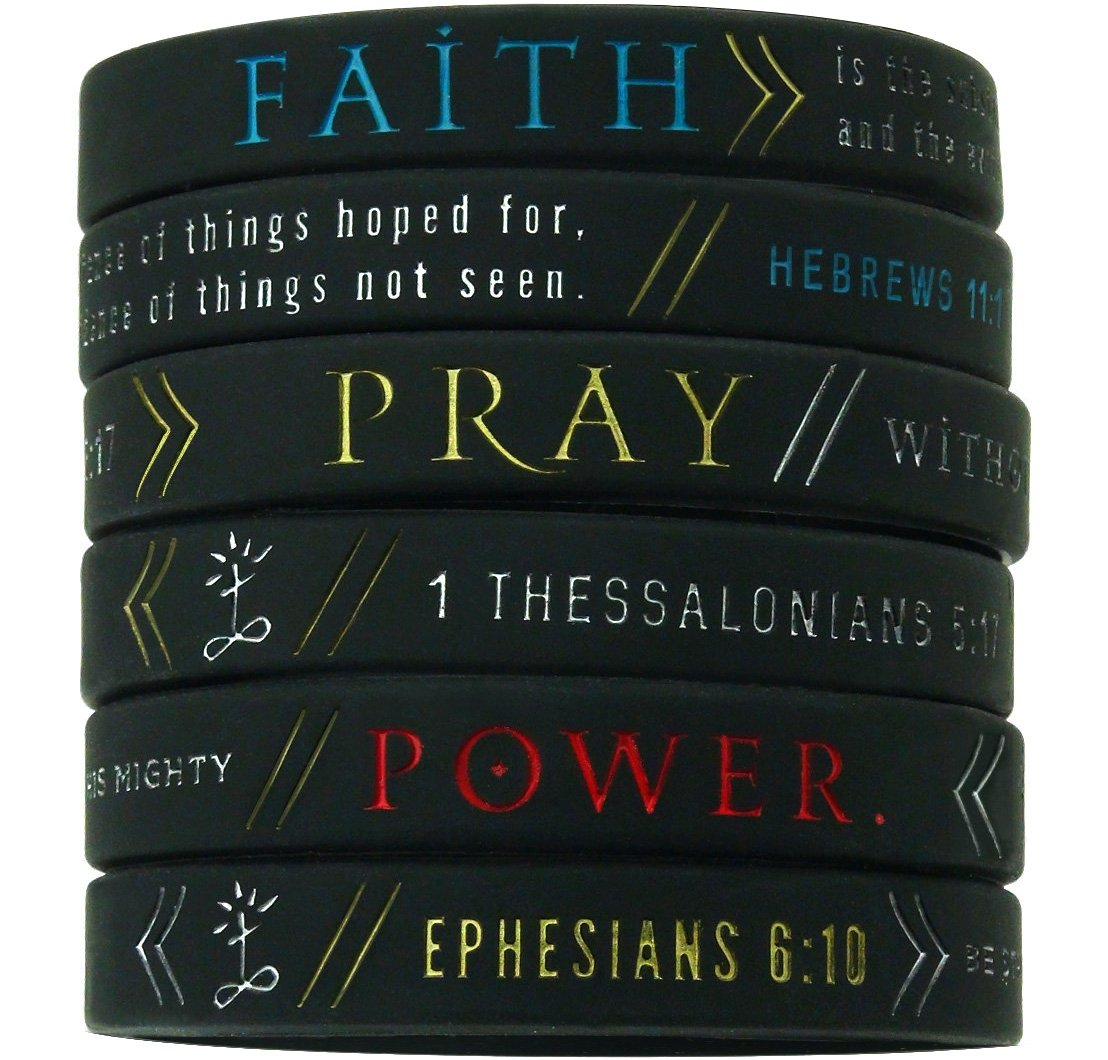Amazon Com 12 Pack Colorful Bible Wristbands