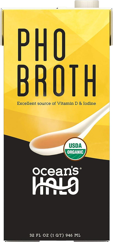Ocean's Halo Organic and Vegan Pho Broth, 32 oz. per Unit, 2 Pack
