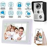 OWSOO Videocitofono 7 Pollici Cablata Video Door Phone Wifi Monitor Interno con IR-CUT Impermeabile Telecamera Esterna Citofono Visivo Audio Bidirezionale Videocitofono