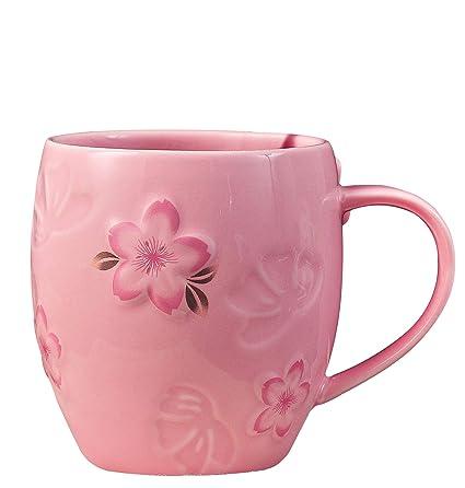 62047273a43 Amazon.com  Jusalpha Charming Cherry Blossom Coffee Mug Tea Cup ...