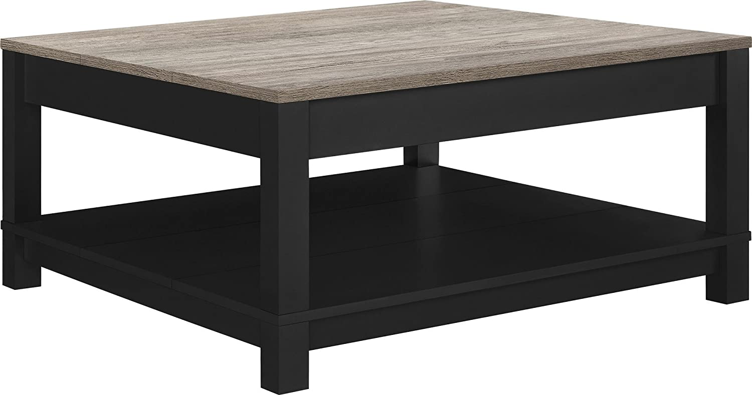 Amazon ameriwood home carver coffee table black kitchen dining watchthetrailerfo