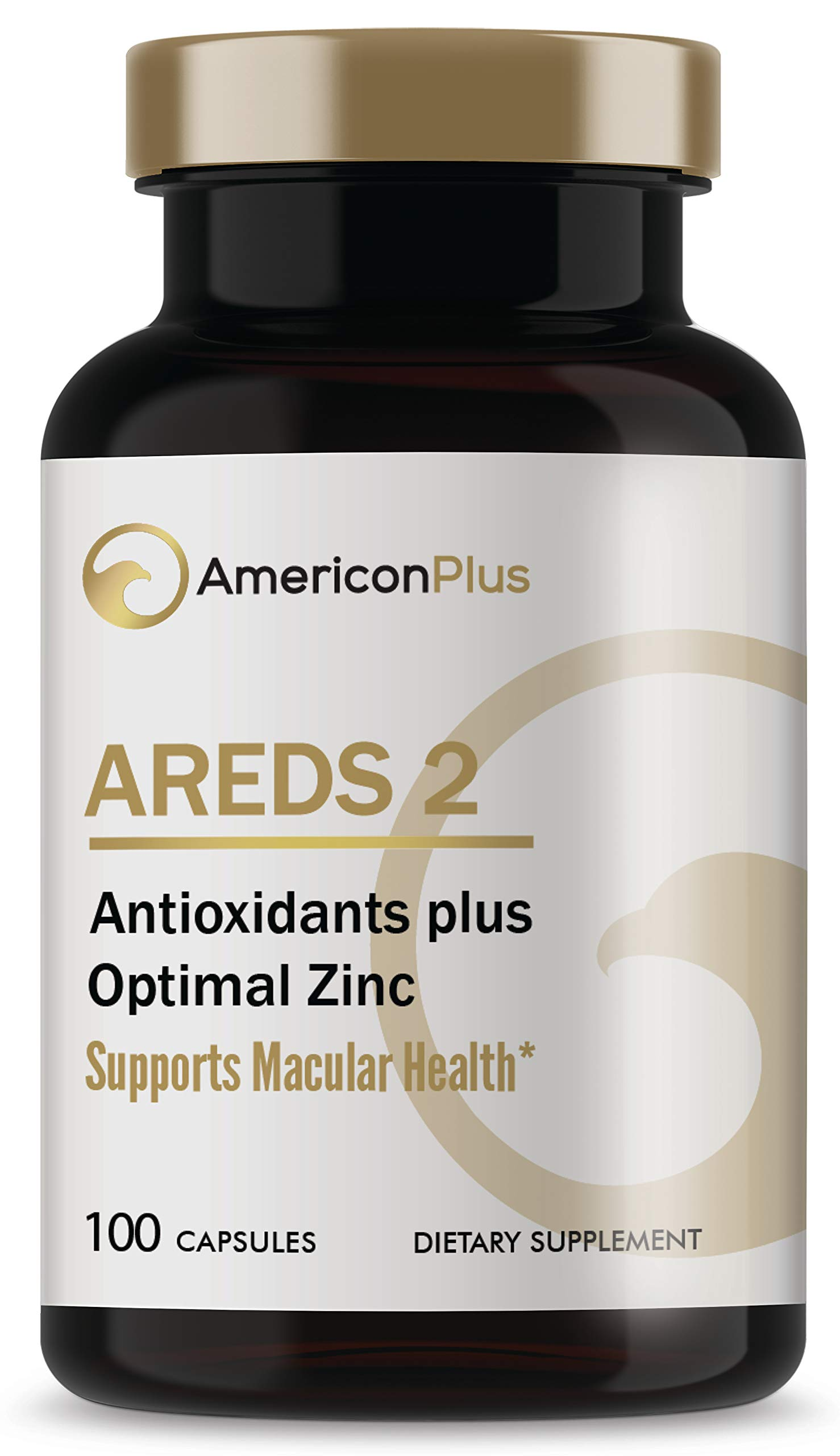 AREDS 2 Eye Vitamins for Macular Health; Based on AREDS and AREDS2 Eye Health Studies; Medical Doctor Research Certified; 100 Capsules by AmericonPlus
