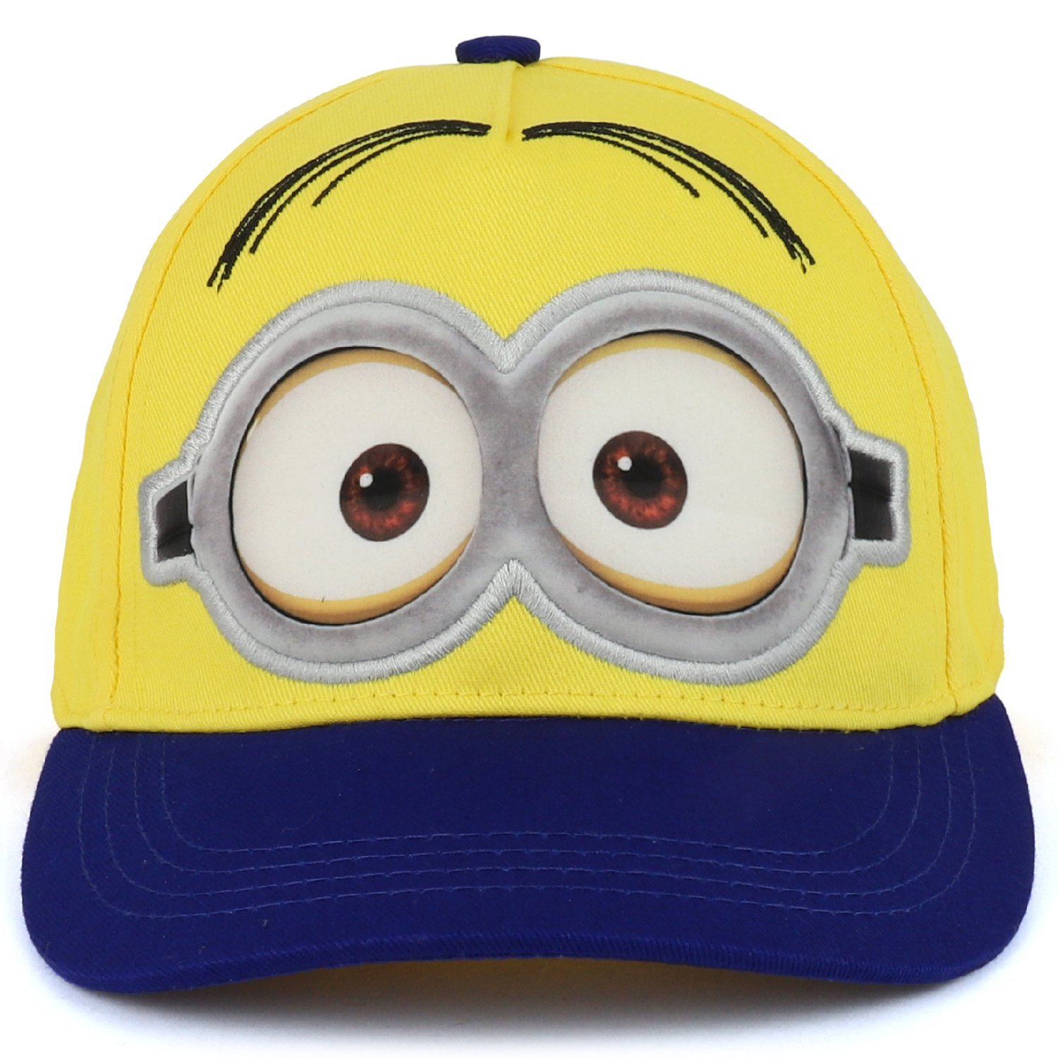 Trendy Apparel Shop Boys Kid's Despicable Me Minions Bob Blue Baseball Cap - Yellow by Trendy Apparel Shop (Image #2)