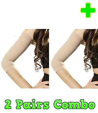 d50fd46a065d0 HealthyNees 2 Pairs Combo Arm Slimming Compression Support Upper Arms  Shaper Toning Sleeve Multi Sizes (