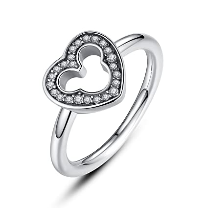 Sterling Silver Crystal CZ Mum Ring Sizes I - X dVtQyL