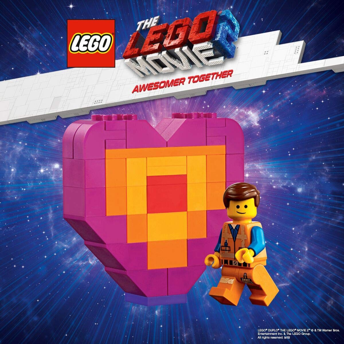 Lucy VS Alien Invader Character Minifigure Triple Pack Friends LEGO Master Metal-Beard Movie 2 Block Building Kit Emmet Mini Figure with Piece Offering Heart