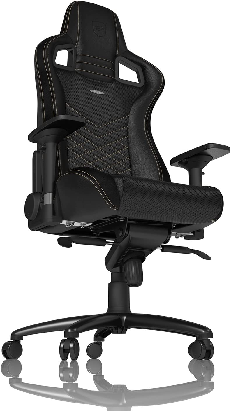Inklusive Kissen Schreibtischstuhl PU-Kunstleder noblechairs Epic Gaming Stuhl B/ürostuhl Schwarz