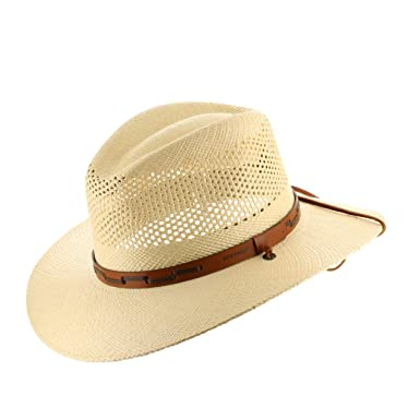 56310672 Stetson Outback Vented Mens Straw Panama Hat at Amazon Men's Clothing store: