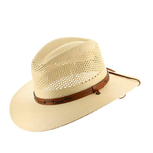 885fd2b2b0b Stetson Outback Vented Mens Straw Panama Hat at Amazon Men s ...