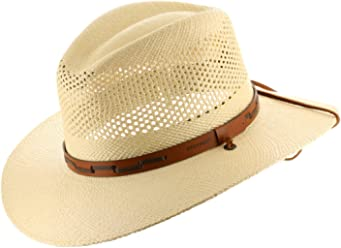 45eac662d376 Stetson Outback Vented Mens Straw Panama Hat