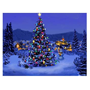 Beautiful Christmas Pictures.Whitelotous Beautiful Christmas Tree 5d Diamond Painting Embroidery Diy Paint By Number Kit Home Wall Decor 16 X 12 Inch