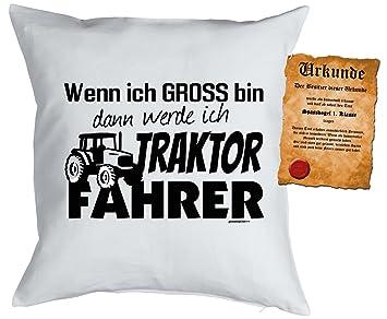 Landwirt Bauer Kissen Sprüche Kuschelkissen Traktor : Werde Ich Traktor  Fahrer    Kissen Mit Füllung