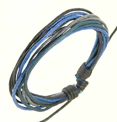 Amazoncom Mens Surf Surfer Style MultiColoured Cord Bracelet