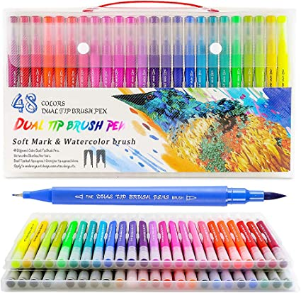 10* Bunte Zeichnung Malerei Marker Pens Filzstift Unterschrift Stift Fasermaler