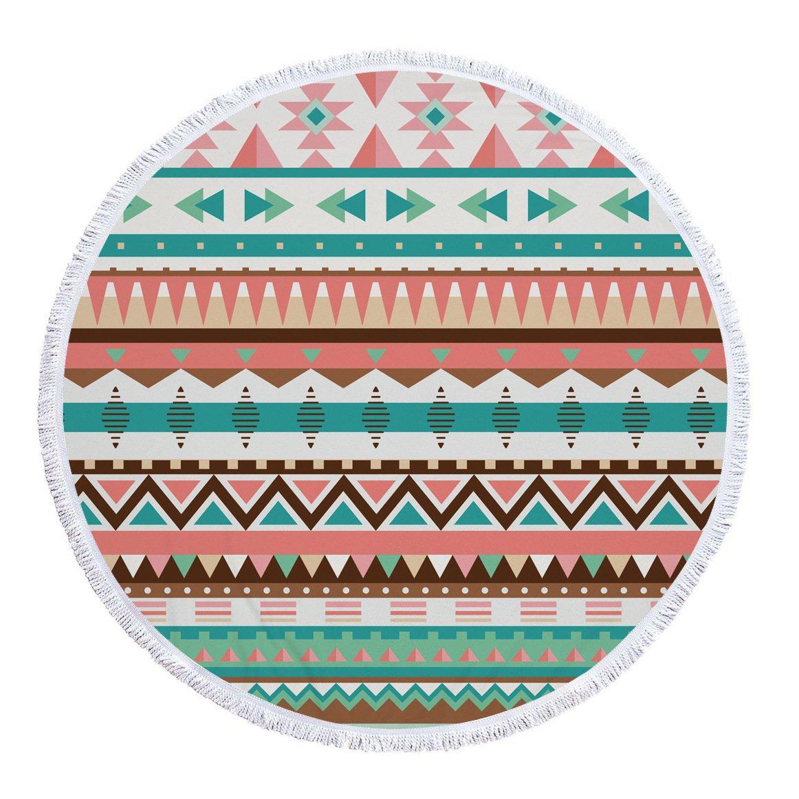 SUYUN Toalla de Playa Multifuncional Redonda con geometría de ...