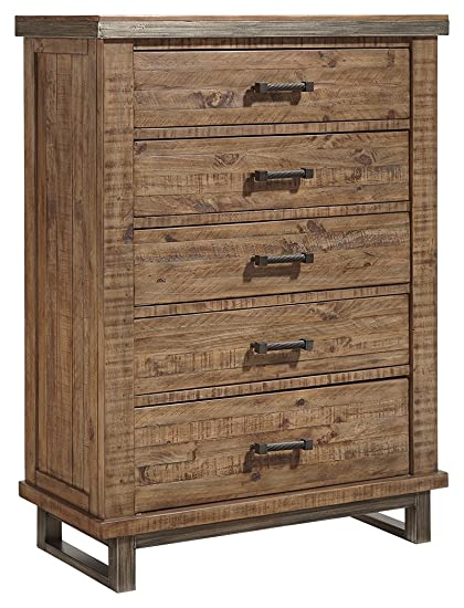 Urban Contemporary Furniture Throughout Ashley Furniture Signature Design Dondie Chest Of Drawers 5drawer Urban Contemporary Dresser Amazoncom