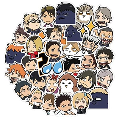 Salemor 40 Pcs Haikyuu!! Stickers Anime Doodle Stickers Travel Trolley Sticker PVC Waterproof Car Sticker Doodle Decal Anime Fans Gifts: Arts, Crafts & Sewing